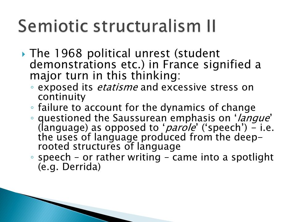 Semiotic structuralism II