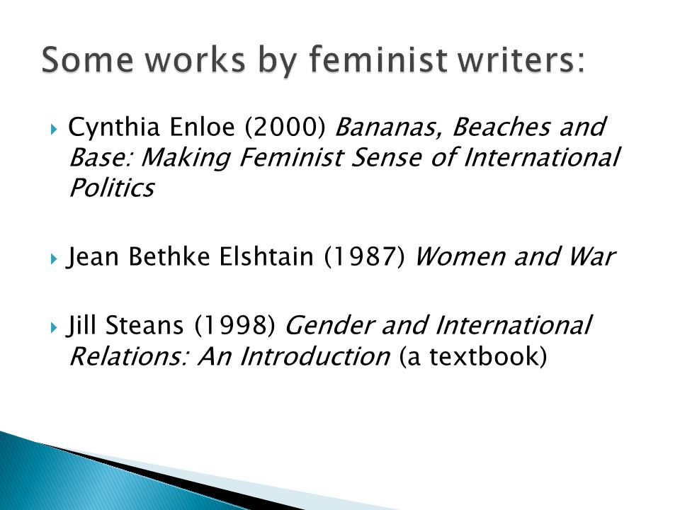 Some works by feminist writers: