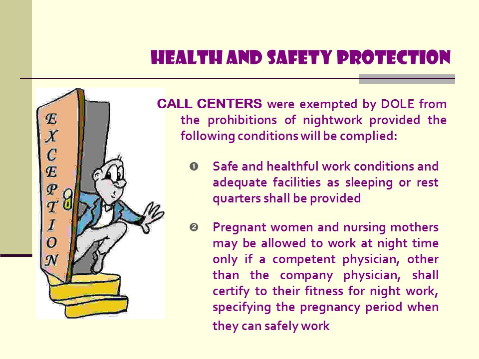 Health and safety protection