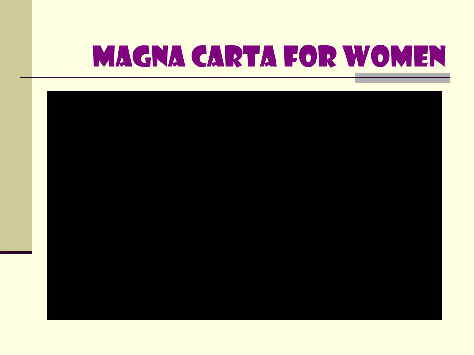 Magna carta for women