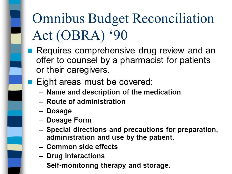 Omnibus Budget Reconciliation Act (OBRA) '90