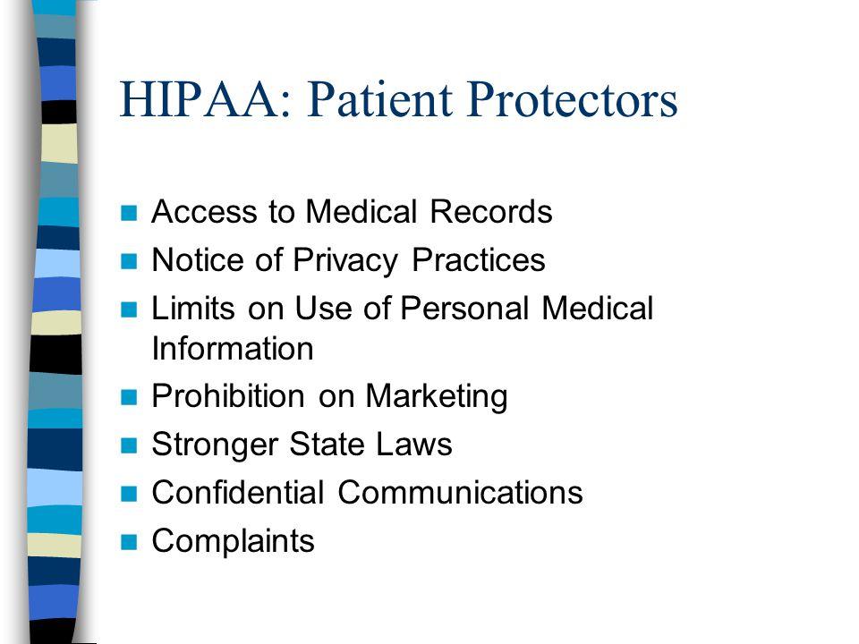 HIPAA: Patient Protectors