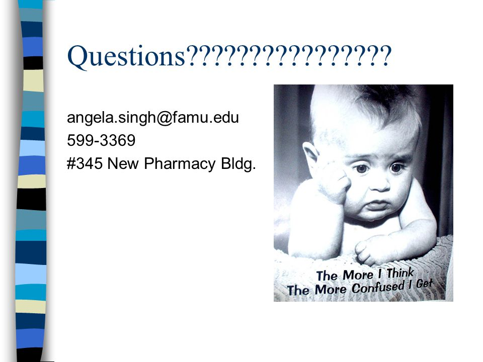 Questions angela.singh@famu.edu 599-3369