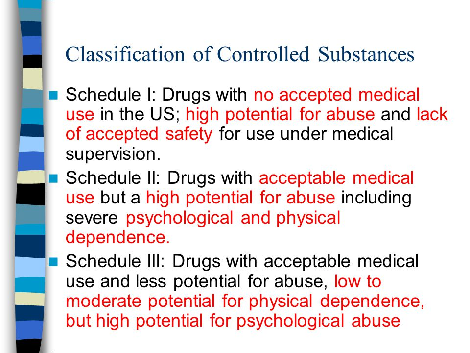 Classification of Controlled Substances