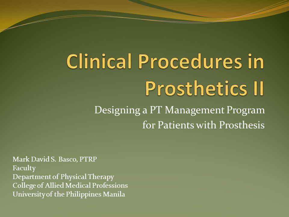 Clinical Procedures in Prosthetics II