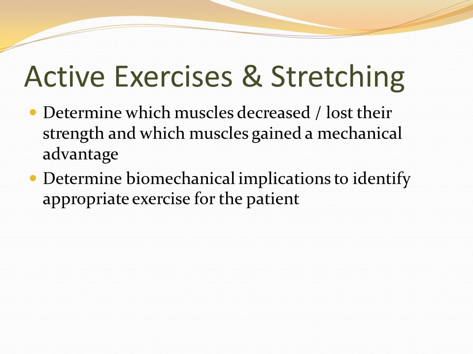 Active Exercises & Stretching