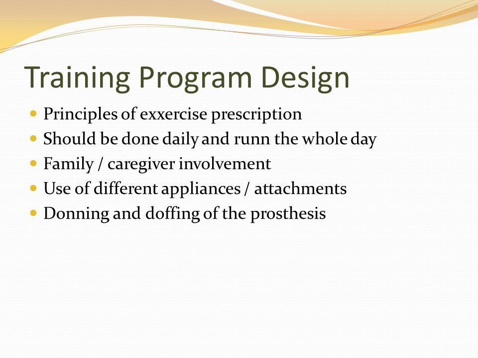 Training Program Design