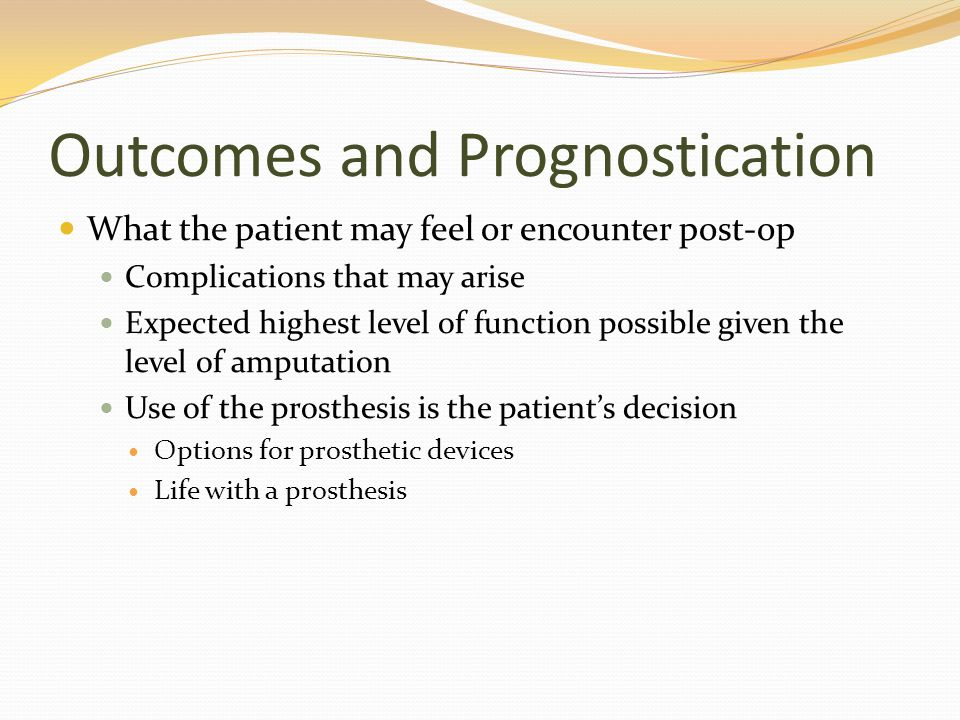 Outcomes and Prognostication