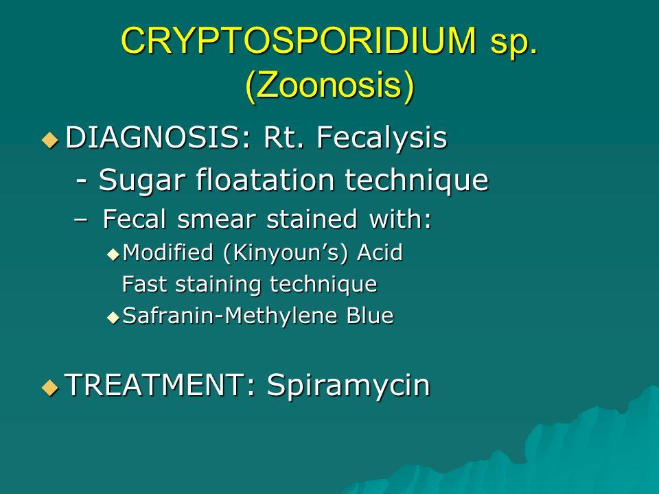 CRYPTOSPORIDIUM sp. (Zoonosis)
