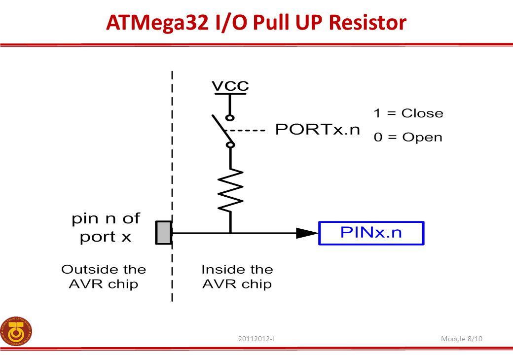 ATMega32 I/O Pull UP Resistor