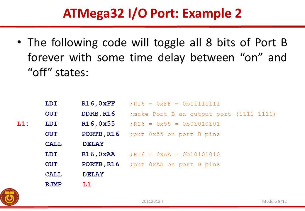 ATMega32 I/O Port: Example 2