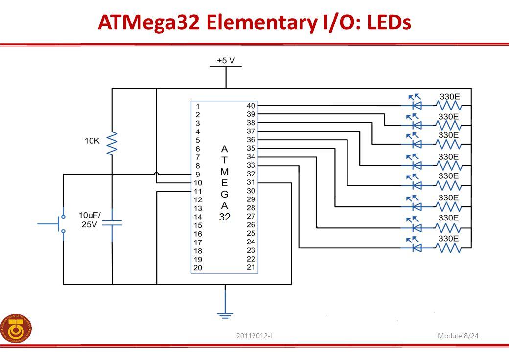 ATMega32 Elementary I/O: LEDs
