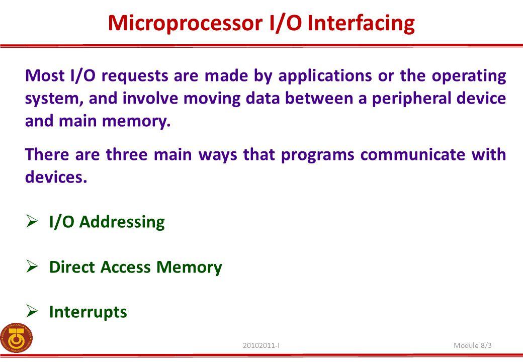 Microprocessor I/O Interfacing