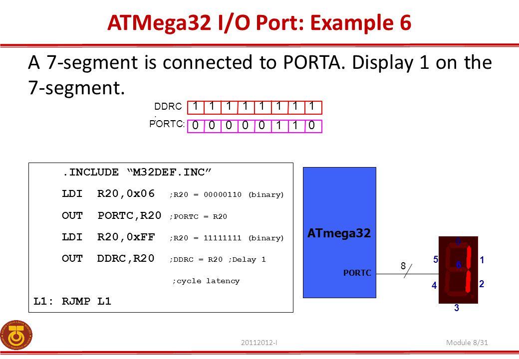 ATMega32 I/O Port: Example 6