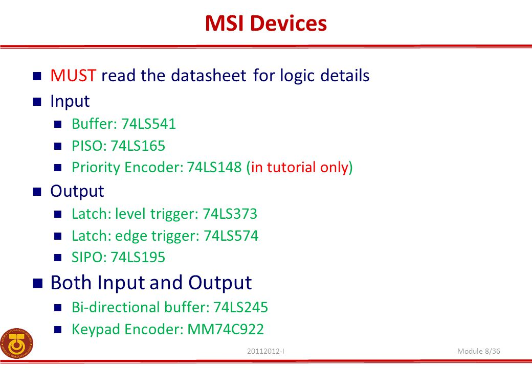 MSI Devices Both Input and Output