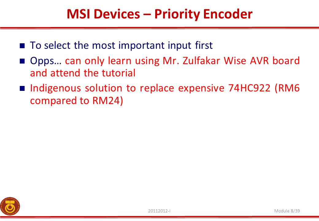 MSI Devices – Priority Encoder