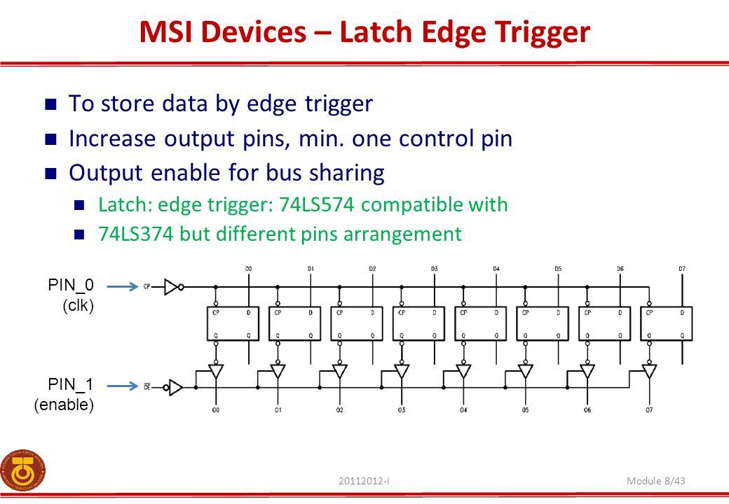 MSI Devices – Latch Edge Trigger