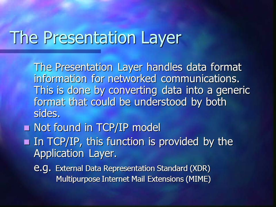 The Presentation Layer