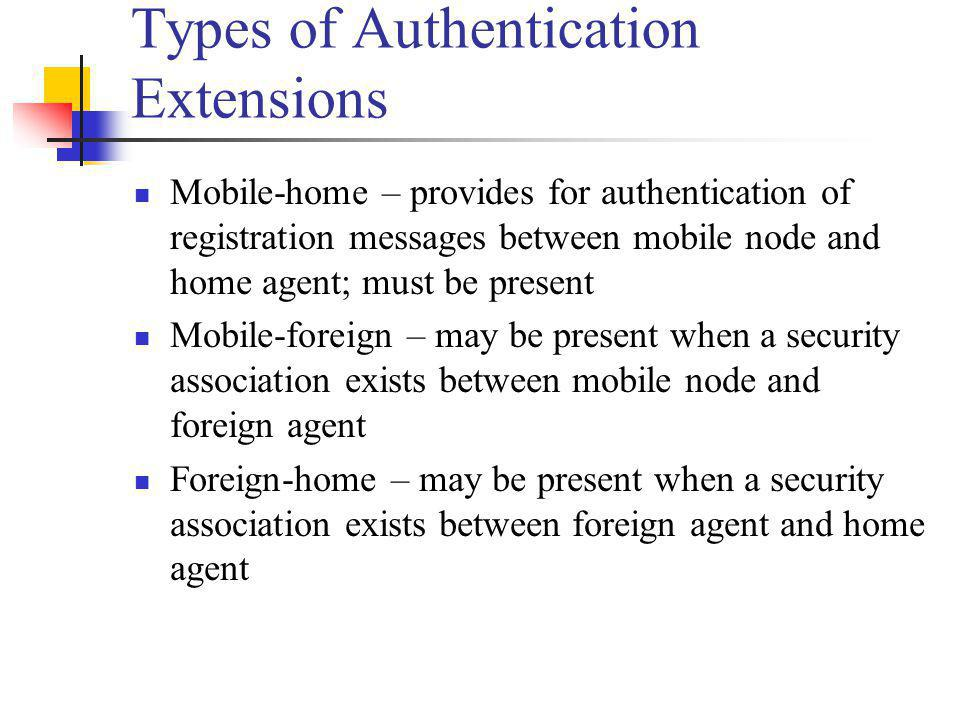 Types of Authentication Extensions