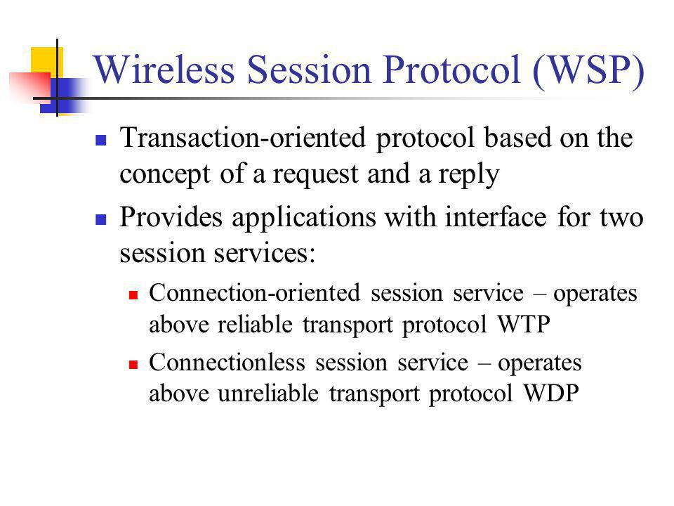 Wireless Session Protocol (WSP)