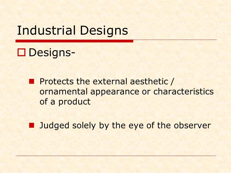 Industrial Designs Designs-