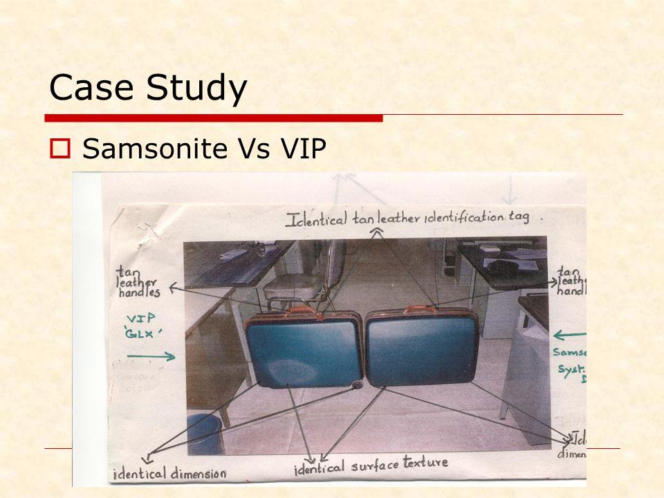 Case Study Samsonite Vs VIP