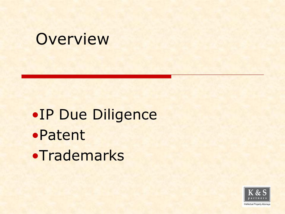 IP Due Diligence Patent Trademarks