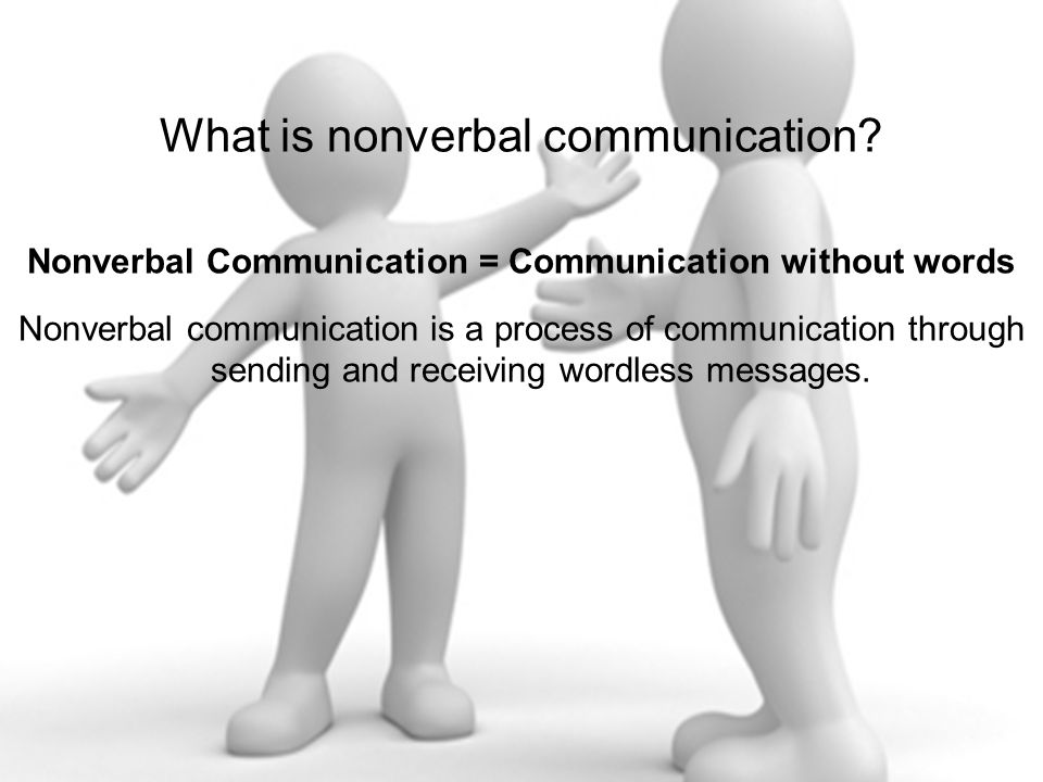 Nonverbal Communication = Communication without words