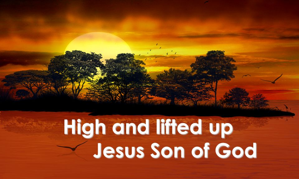 High and lifted up Jesus Son of God