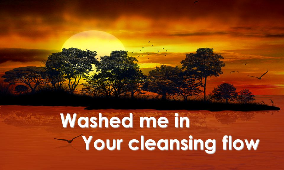Washed me in Your cleansing flow