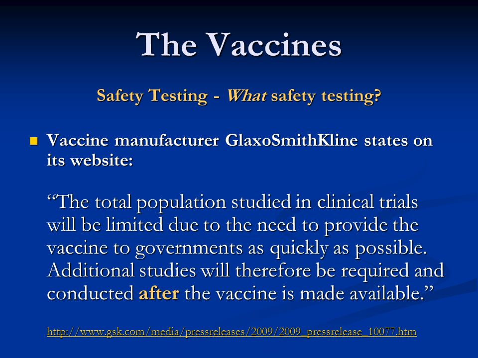 Safety Testing - What safety testing
