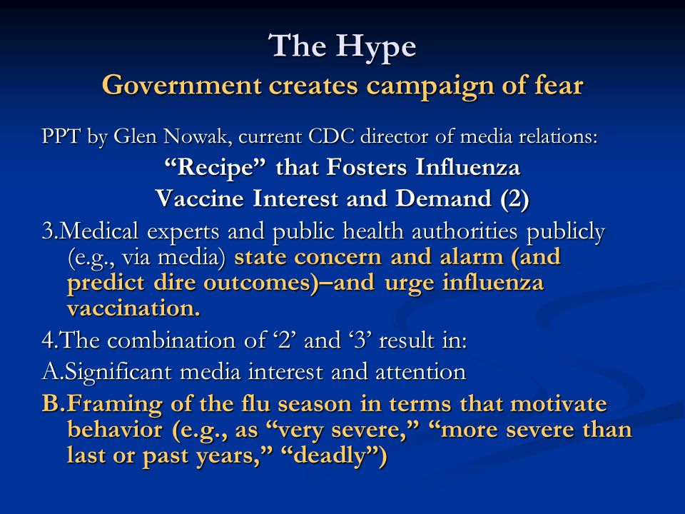 The Hype Government creates campaign of fear