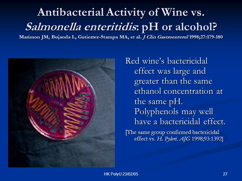 Antibacterial Activity of Wine vs