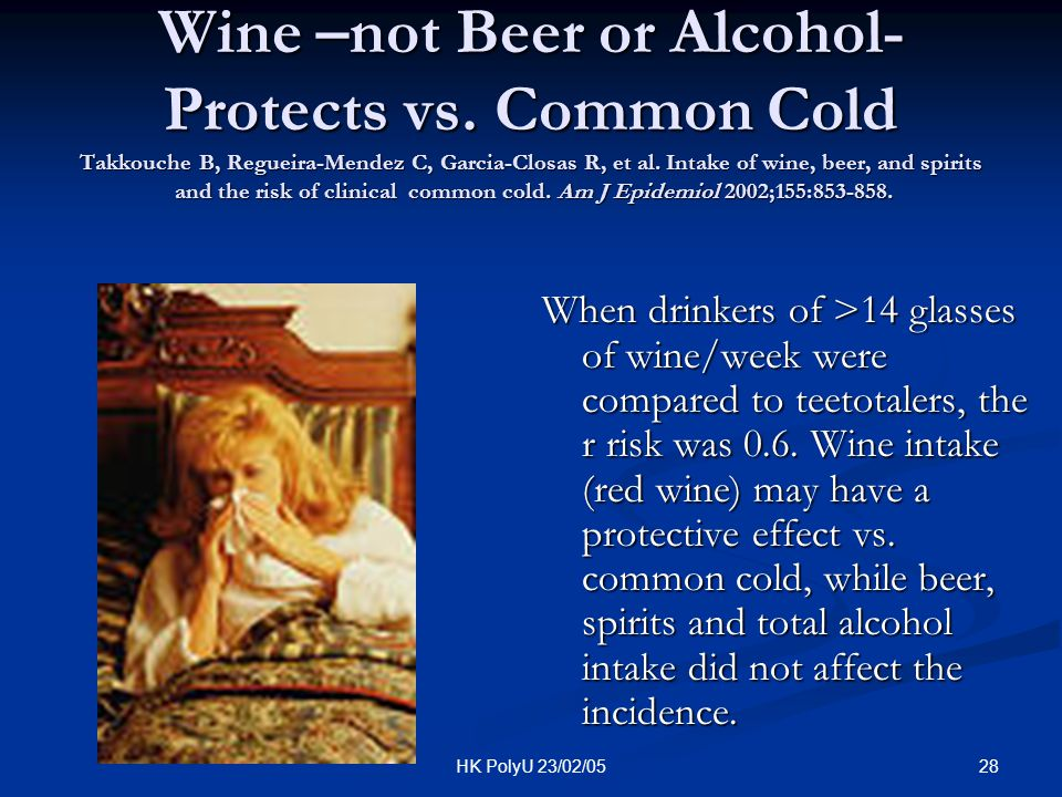 Wine –not Beer or Alcohol- Protects vs