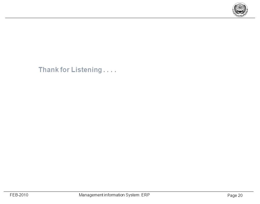 Thank for Listening . . . .