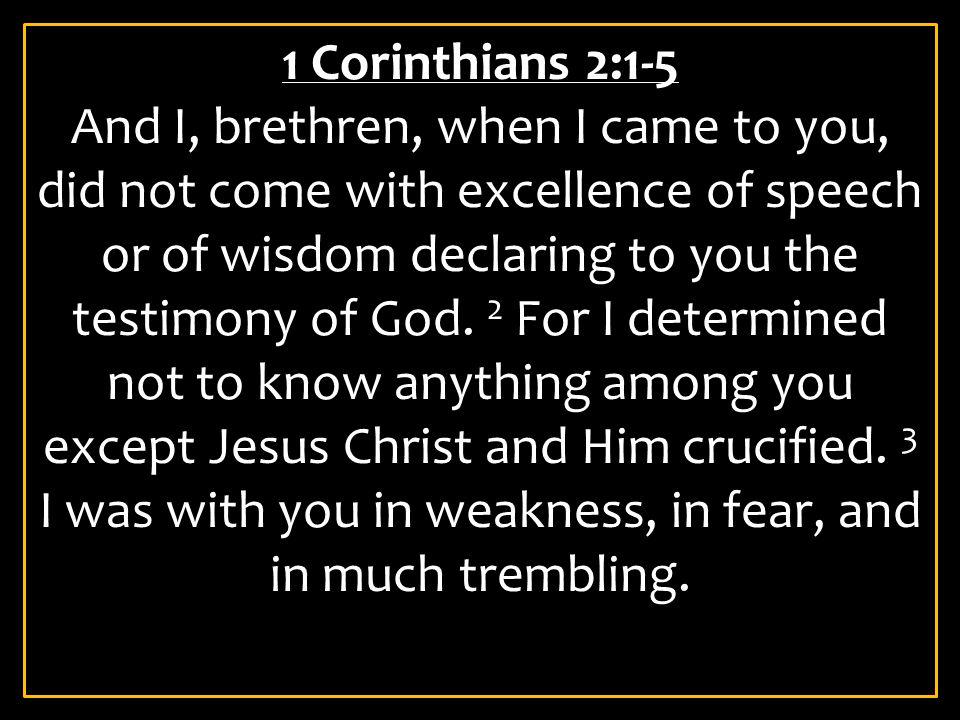 1 Corinthians 2:1-5