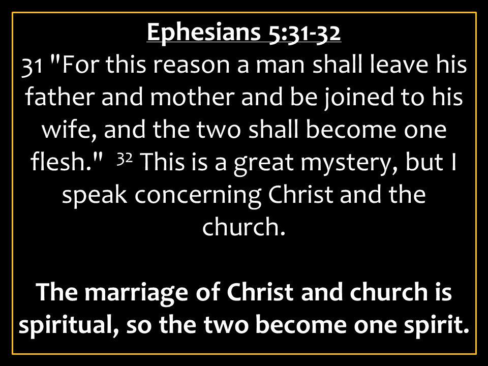 Ephesians 5:31-32
