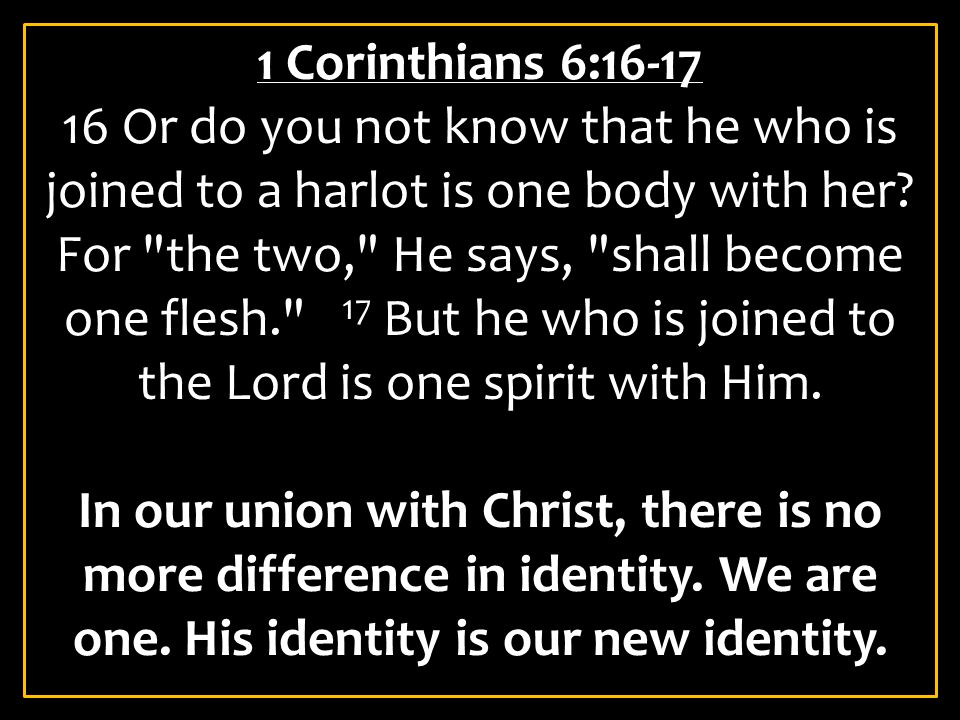 1 Corinthians 6:16-17