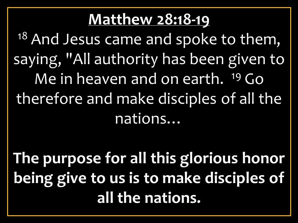 Matthew 28:18-19