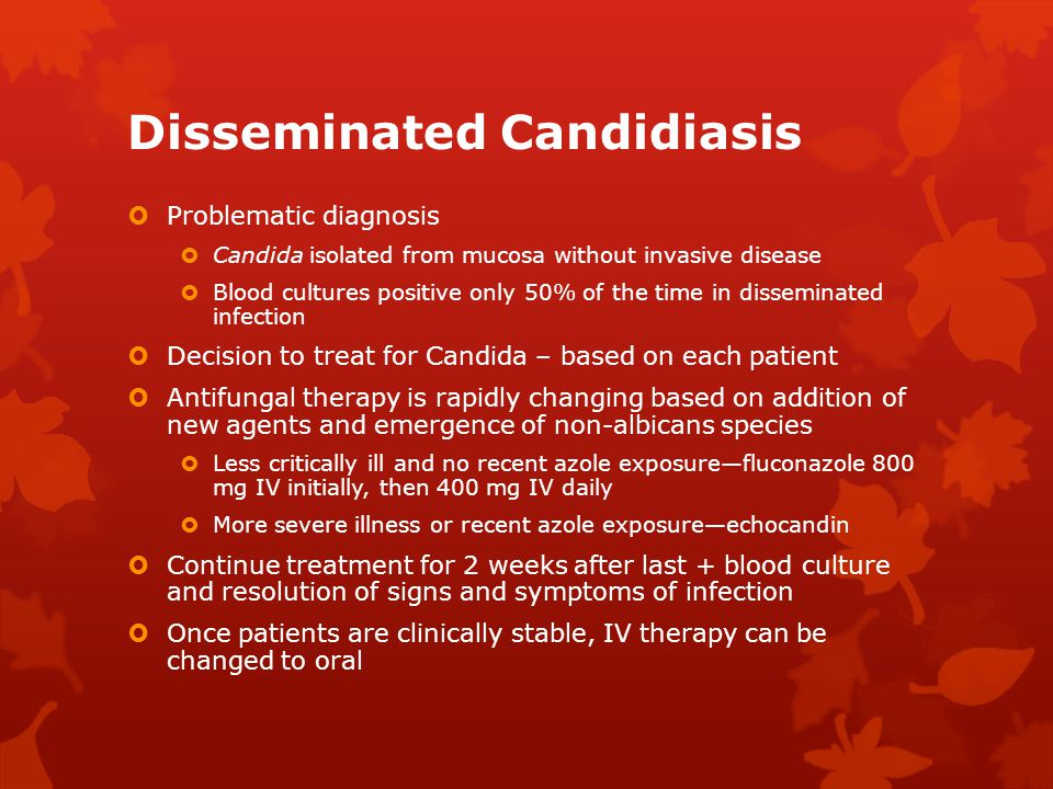Disseminated Candidiasis