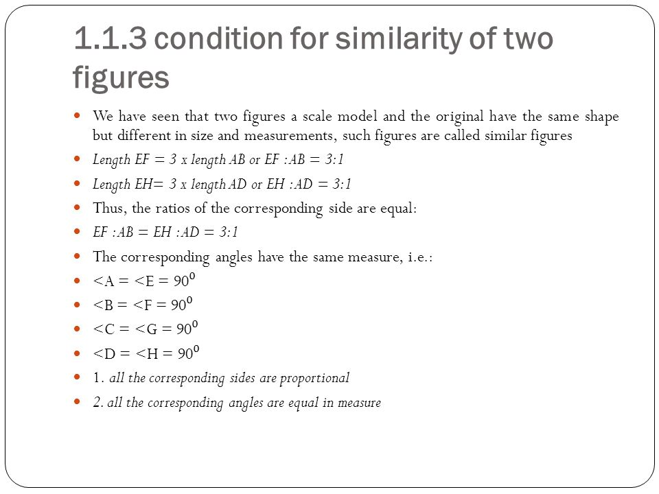 1.1.3 condition for similarity of two figures