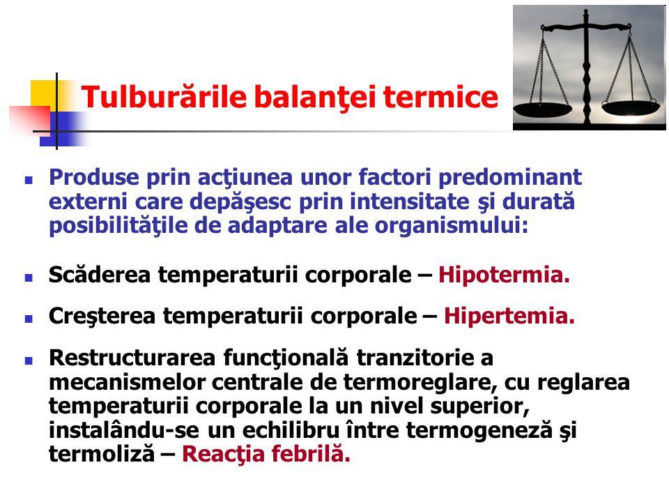 Tulburările balanţei termice
