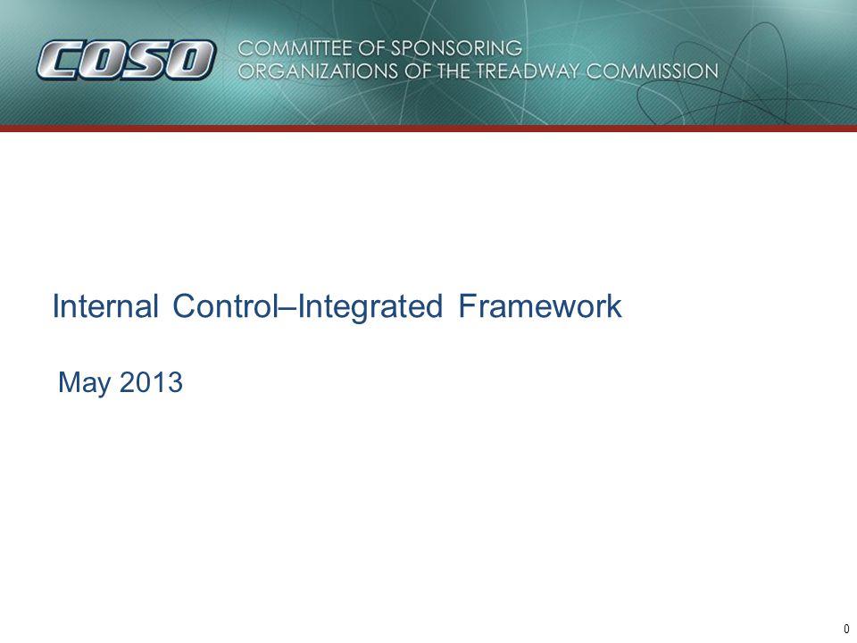 Internal Control–Integrated Framework