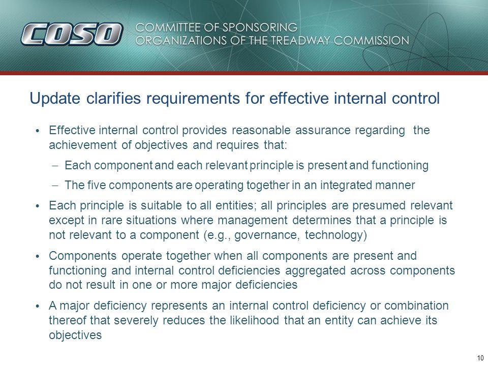 Update describes important characteristics of principles, e.g.,