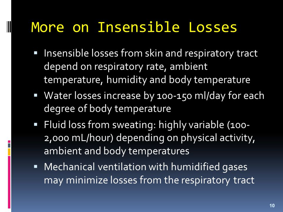 More on Insensible Losses