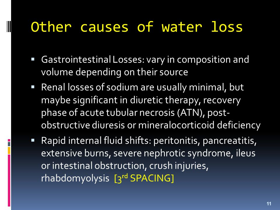 Other causes of water loss
