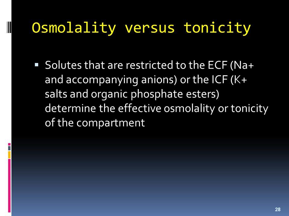 Osmolality versus tonicity