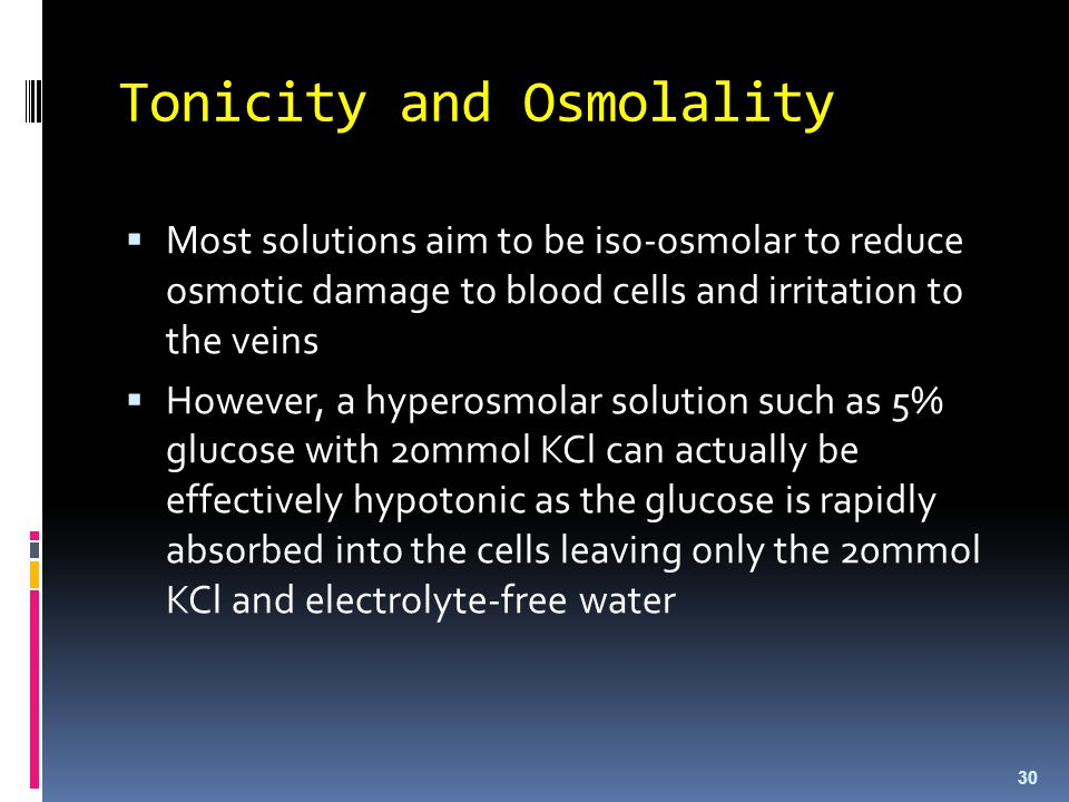 Tonicity and Osmolality