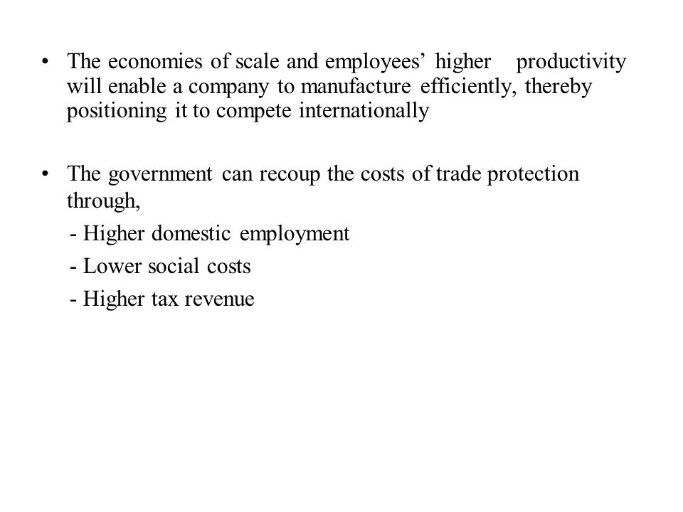 The government can recoup the costs of trade protection through,