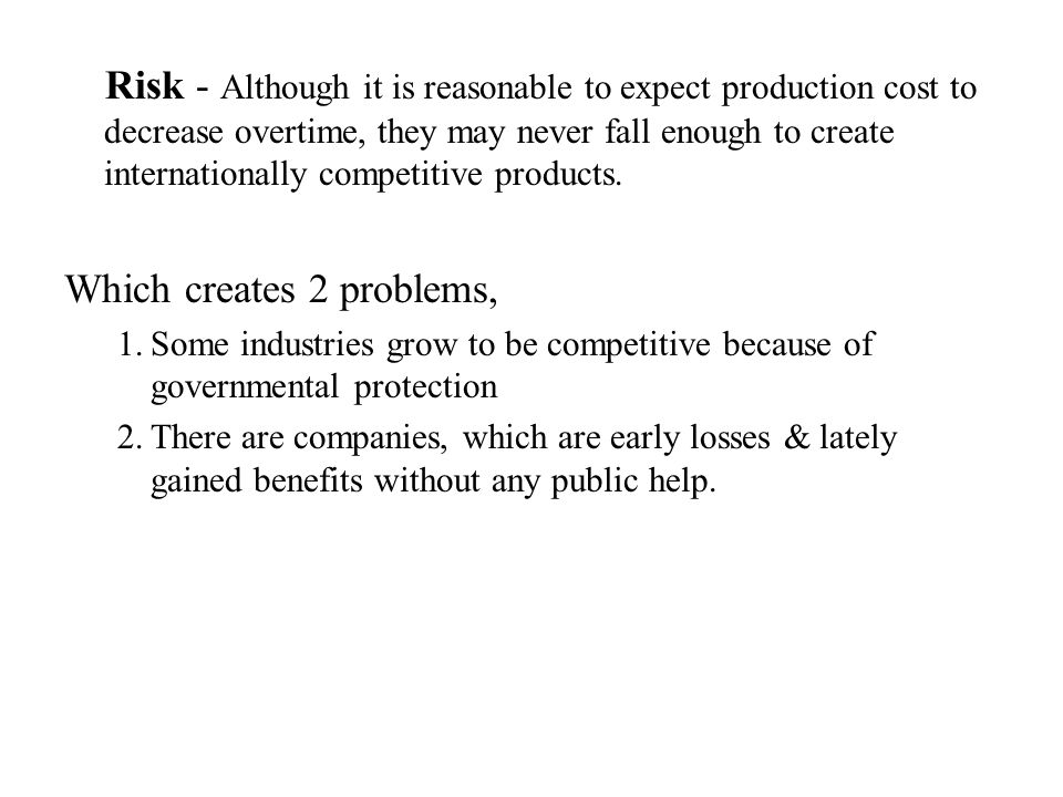 Which creates 2 problems,